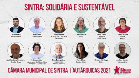 Autárquicas 2021: Candidatos/as à Câmara Municipal de Sintra