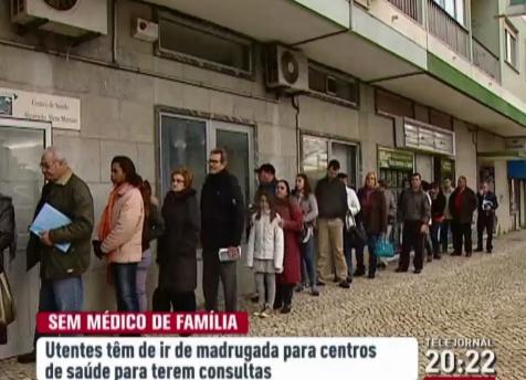 Centro de Saúde de Mem Martins - Imagem retirada de reportagem da RTP