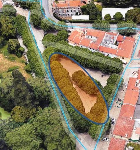 área prevista para estacionamento no Largo da Feira de S. Pedro