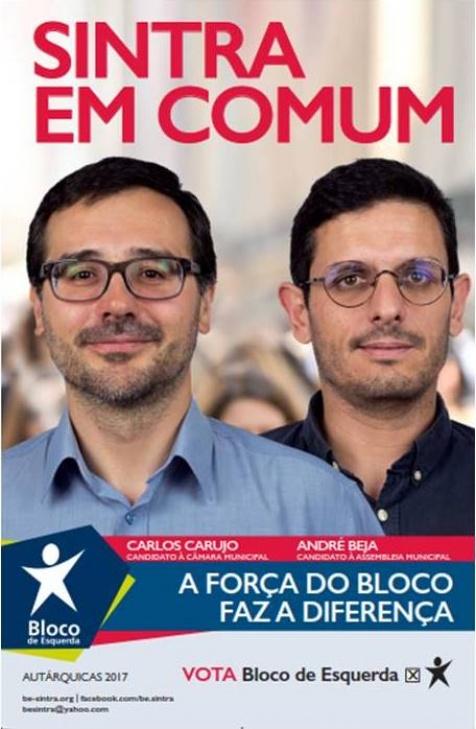 novo cartaz do Bloco de Sintra já está na rua