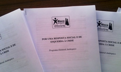 Programa autárquico do Bloco de Sintra